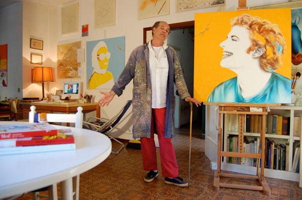 Foto del corso individuale di pittura a olio con Riccardo Corti - Hotel Sirio a Lido di Camaiore in Versilia, Toscana