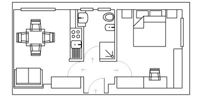 Appartamenti residence bilocali hotel sirio 3 stelle for Planimetria appartamento
