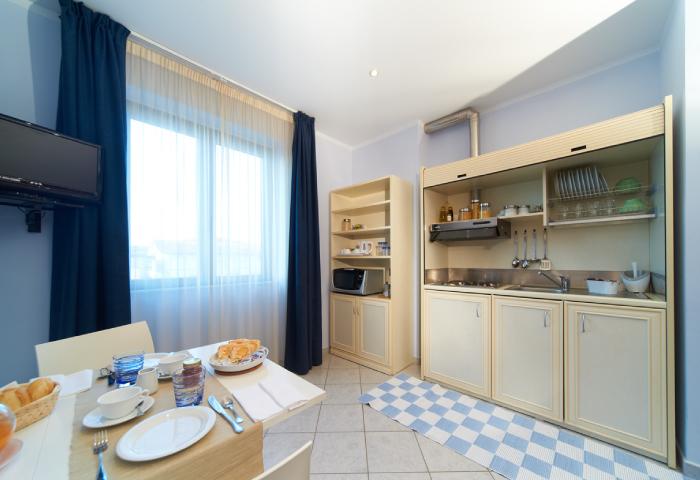 Foto soggiorno appartamento residence bilocale - Hotel Sirio a Lido di Camaiore in Versilia, Toscana