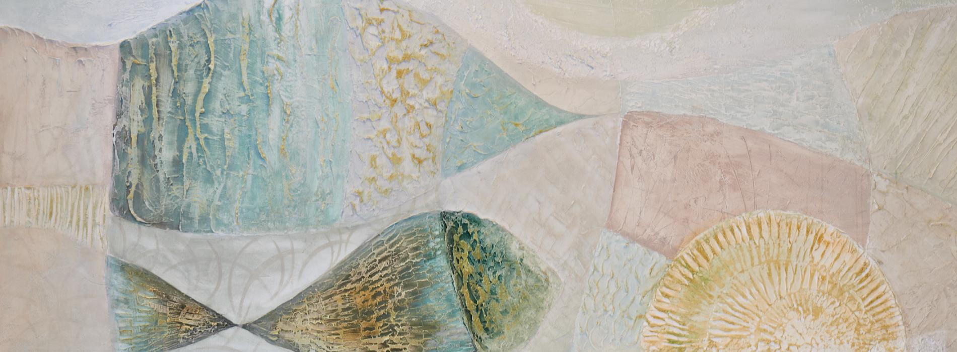 Foto della Hall: opera d'arte in stucco a rilievo dell'artista Giglia Acquaviva per Hotel Sirio a Lido di Camaiore in Versilia, Toscana